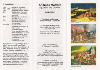 Einladung Flyer Galerie Fuchstal März 2012, Andreas Mattern