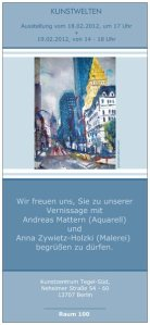 Einladungskarte, Kunstzentrum Tegel Süd, Andreas Mattern