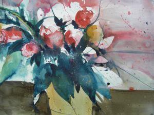 Aquarell Blumen 56/95 cm (Ausschnitt), Andreas Mattern