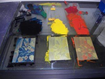 Radierplatten bereit für die Farbe , Andreas Mattern