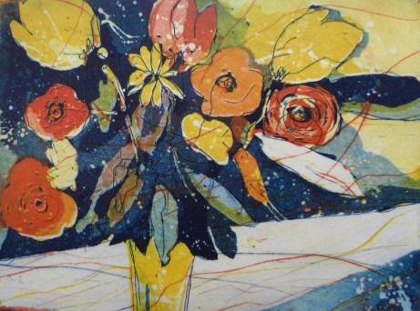 Radierung Blumen 3 Platten 15/20cm, Andreas Mattern