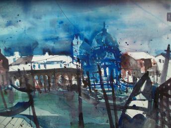 "Venedig ""Santa Maria::.."", Aquarell 56/76cm Andreas Mattern"