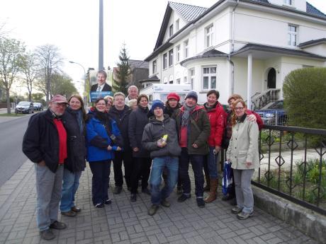 Malen in Mühlhausen , April 2012, Foto Andreas Mattern