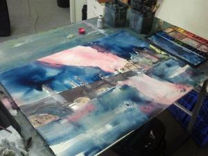 Malen im Atelier, Andreas Mattern