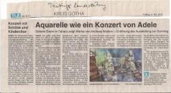 Pressetext Landeszeitung Thüringen zur Ausstellung von Andreas Mattern in der Galerie Grahn am 06.05.2012
