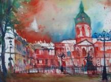 "Andreas Mattern, ""Berlin Schloss Charlottenburg."" Aquarell 56/76 cm , 2012"
