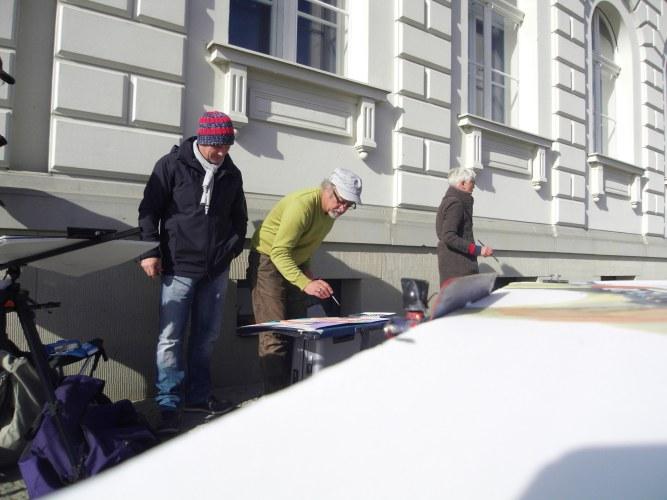 Malen am Berliner Dom (c) Foto Andreas Mattern, 2012