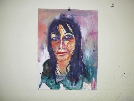 """Andreas Mattern """"Kopf A. """"Aquarell 56/76 cm, 2012"""