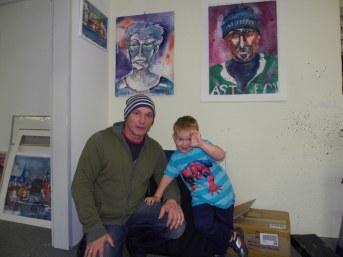 Melvin und Andreas im Atelier, 2012
