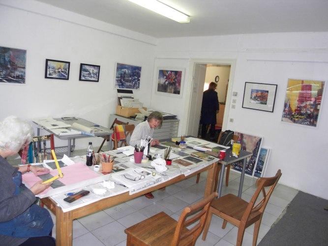 Radierkurs Andreas Mattern , Atelier 2012