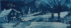 """Andreas Mattern, """"Landschaft-Winter"""", 6/15 cm, Radierung/Aquatinta , 2012, auf Hahnemühle Kupferdruck 350g"""