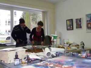 Ute Möller/Andreas Mattern im Atelier Berlin Januar 2013