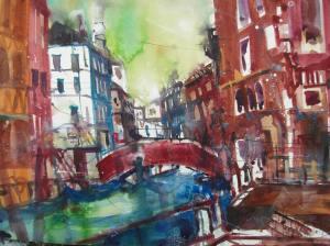 Frari, Venedig, Aquarell 56/76 cm von Andreas Mattern, 2013