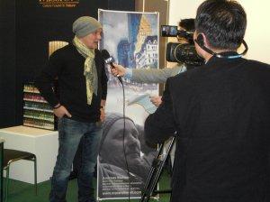 Koreanisches Fernsehen am Stand von Mijello Aquarellfarben mit Andreas Mattern