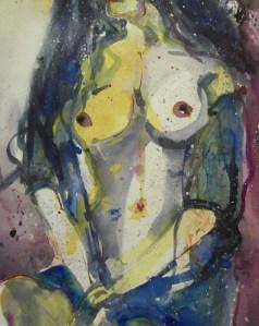 Akt (Auftrag), Aquarell/Watercolor 56/76 cm, Andreas Mattern, 2013