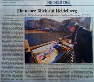 Presseartike4l zur Ausstellung in Heidelberg