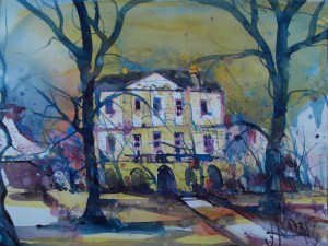 Schloss Freudenberg-Aquarell/Watercolor-56/76 cm-Andreas Mattern-2013-WV 78/2013