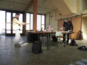 Patrick Hanke und Andreas Mattern-Alte Feuerwache Heidelberg (c) Andreas Mattern