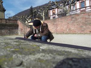 Andreas Mattern malt in Heidelberg (c) Andreas Mattern-2013