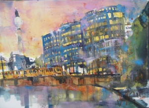"Berlin ""Trias""-Aquarell/Watercolor-56/76 cm- Andreas Mattern-2013"