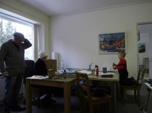 Maria und Melvin malen gemeinsam-Atelier Andreas Mattern 2013