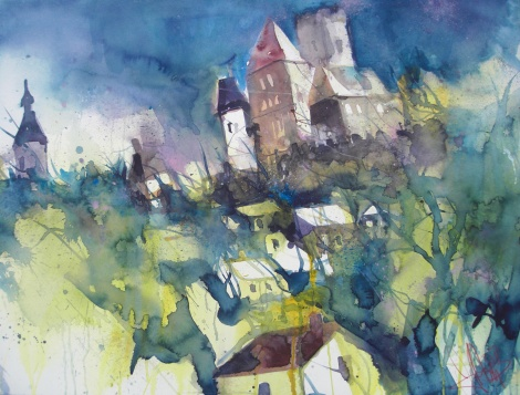 Hardegg-Aquarell/Watercolor-56/76 cm-Andreas Mattern-2013