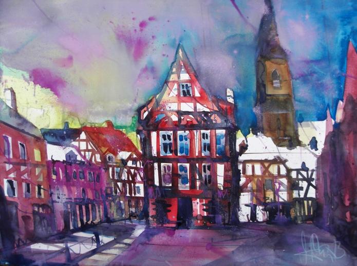 Quedlinburg (2)-Aquarell/Watercolor-56/76 cm-Andreas Mattern-2013