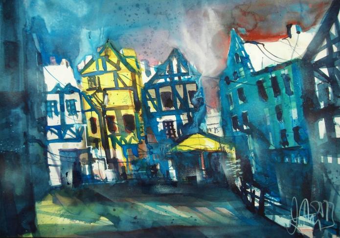 Quedlinburg-Aqurell/Watercolor-56/76 cm-Andreas Mattern-2013