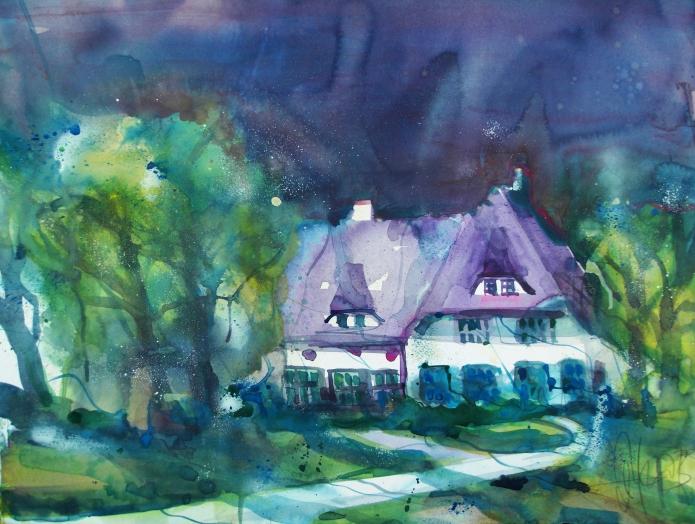 Wiek bei Prerow-Aquarell/Watercolor-56/76 cm-Andreas Mattern-2013