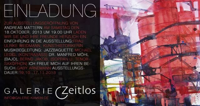 Einladung- Galerie Zeitlos Kamen-Ausstellung- Andreas Mattern-2013