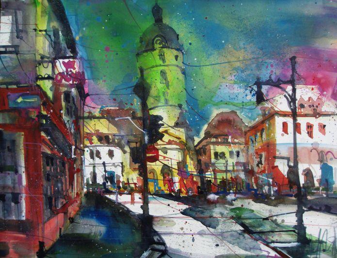 Ansbach-Aquarell/Watercolor 56/76 cm-Andreas Mattern-2013