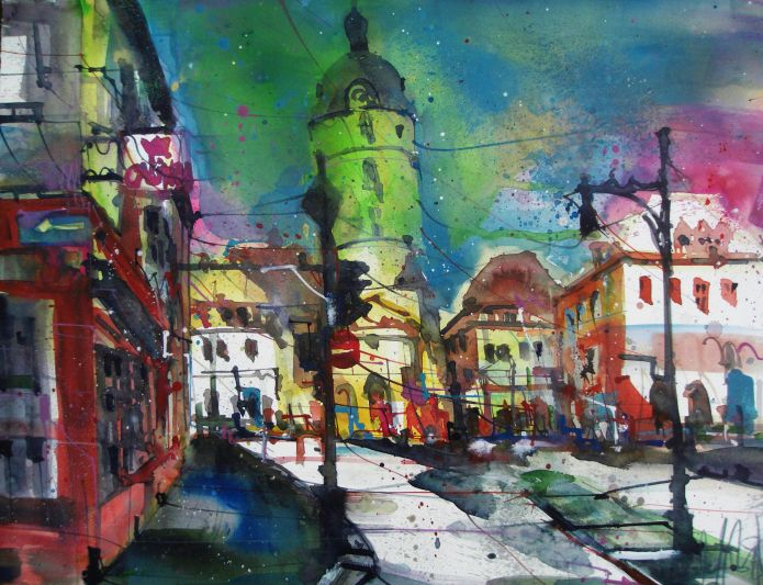 Ansbach-Aquarell/Watercolor 56/76 cm-Andreas Mattern-2013