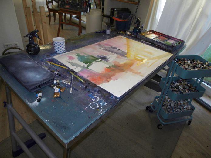 Malen im Atelier 31.12.2013-Andreas Mattern