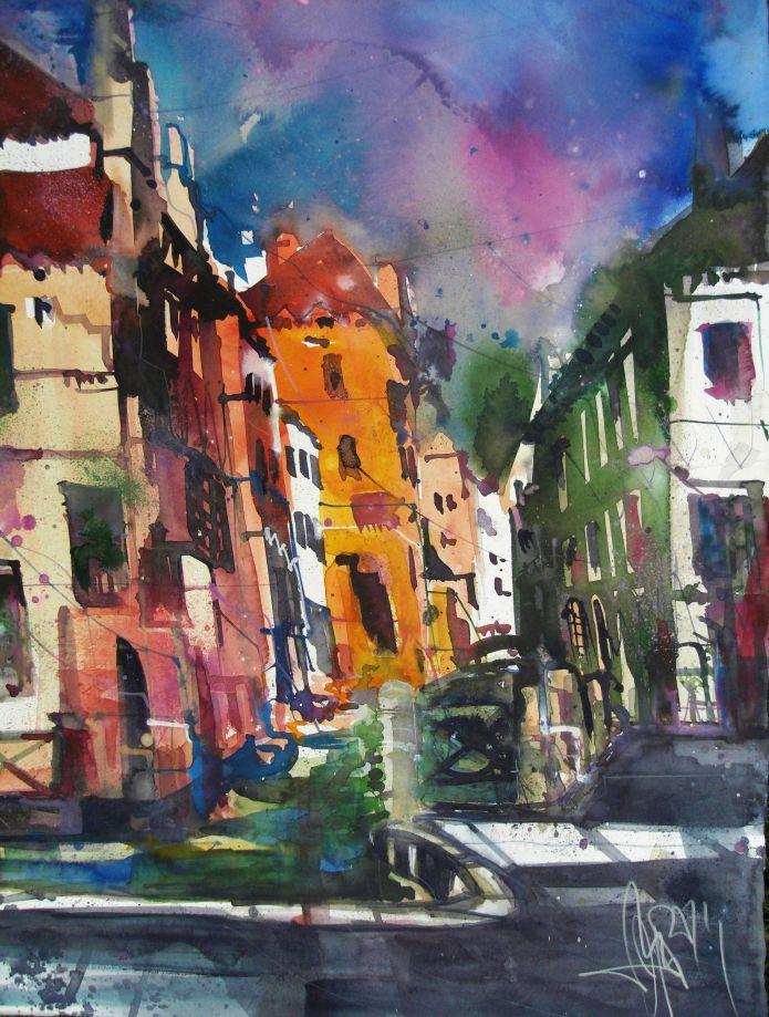 Venedig-Aquarell 76/56 cm-Andreas Mattern-2014