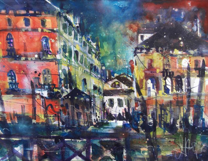Venedig-Aquarell 56/76 cm-Andreas Mattern-2104