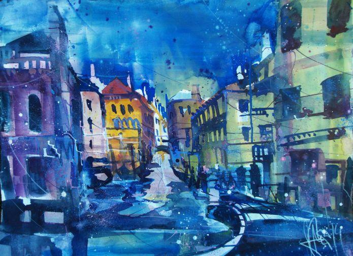 Venedig del Megio-Aquarell/Watercolor-56/76 cm-Andreas Mattern-2014