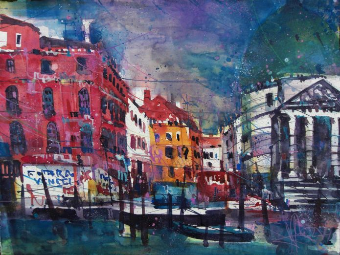 Venedig (Chesia) -Aquarell/Watercolor-56/76 cm-Andreas Mattern-2014