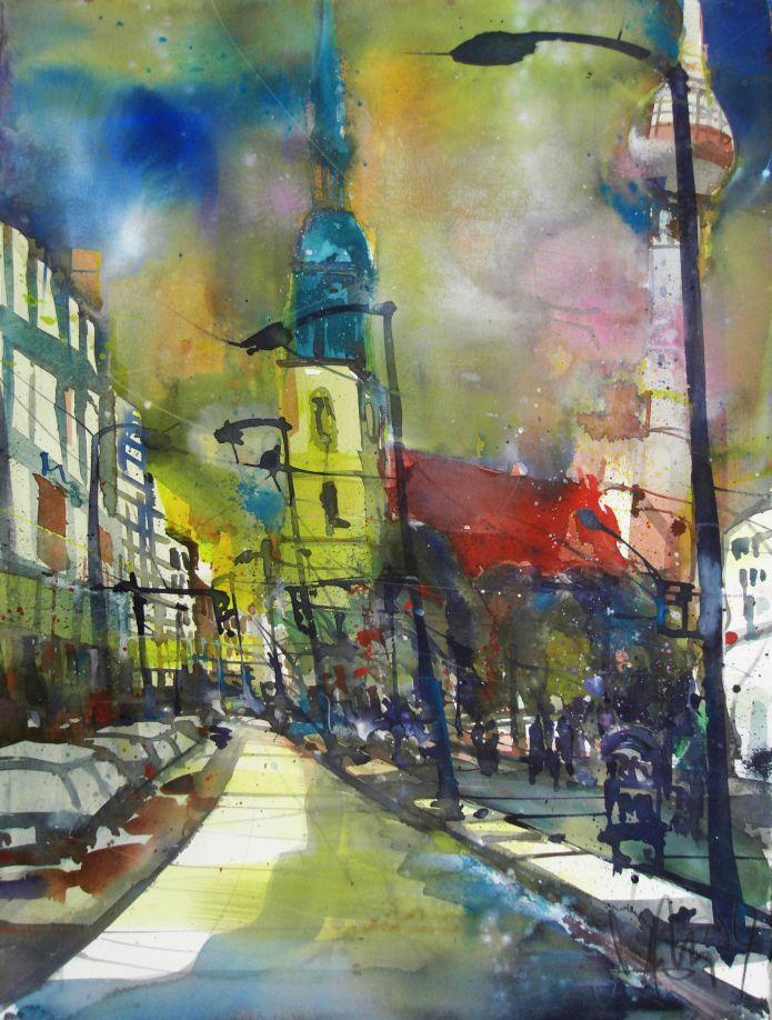 Berlin MK-Aquarell/Watercolor-76/56 cm-Andreas Mattern-2014