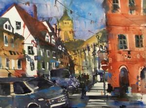 Colmar, Frankreich, Watercolor 56/76 cm, Andreas Mattern, 2015