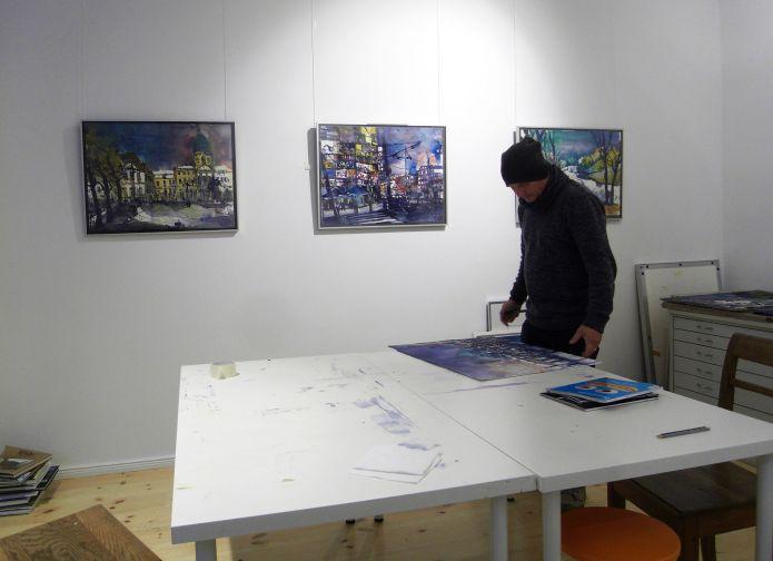 Andreas Mattern im Atelier Okt.2014
