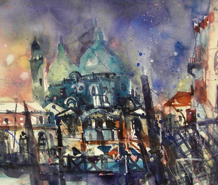 Venedig-Watercolor-Andreas Mattern