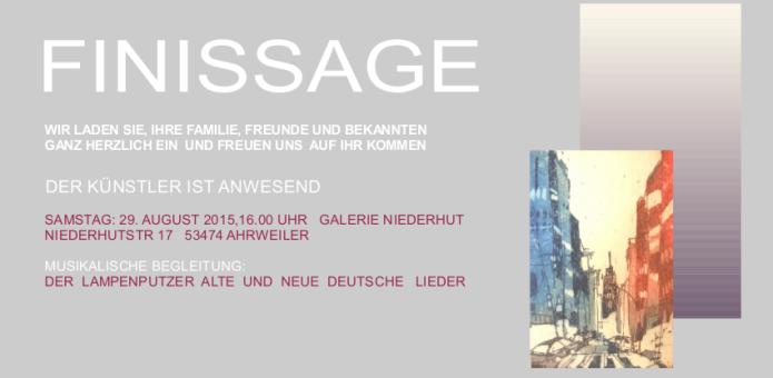 Finissage in der Galerie Niederhut, Aquarelle von Andreas Mattern