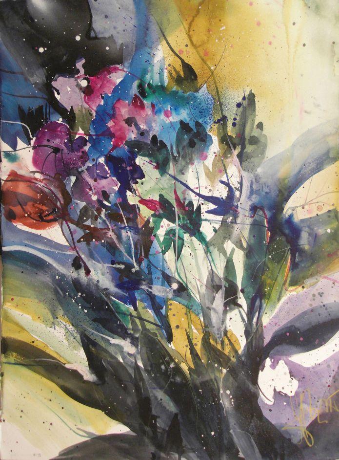 Wildblumen, Watercolor 76/56 cm, Andreas Mattern,2015